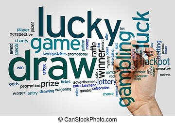 Lucky draw word cloud - Lucky draw concept word cloud...