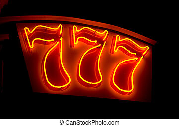 lucky figures 777 - neon sign