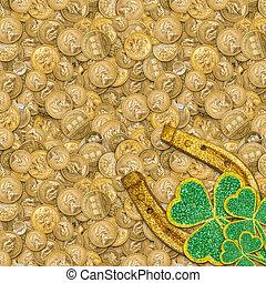 Lucky golden horseshoe