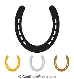Lucky horseshoe - silhouette lucky irish horseshoe in black...