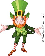 Lucky Leprechaun - Full length drawing of a leprechaun