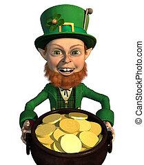 Lucky Leprechaun - A leprechaun finds a pot of gold - he's...