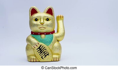 lucky or fortune cat waving for good business concepts.