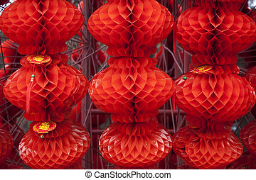 Lucky Red Lanterns Chinese Lunar New Year Decorations Ditan Park