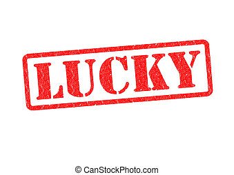 LUCKY Rubber Stamp over a white background.