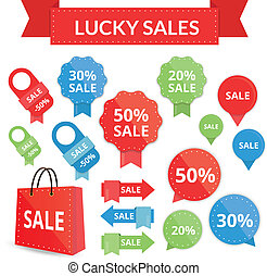 lucky sales set vector