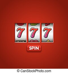 Lucky seven 777 slot machine. Casino vegas game. Gambling fortune chance. Win jackpot money