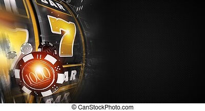 Lucky Slot Machine Banner