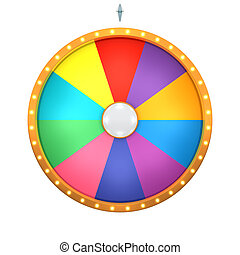 lucky spin 10 area color - Lucky spin represent the wheel of...