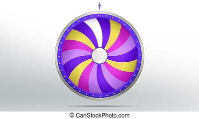 lucky spin twirl eighteen purple 4K - Lucky spin represent...