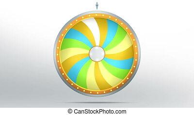 lucky spin twirl eighteen yellow 4K - Lucky spin represent...