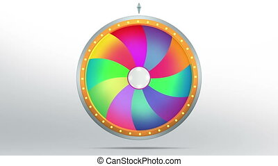 lucky spin twirl ten colorful 4K - Lucky spin represent the...