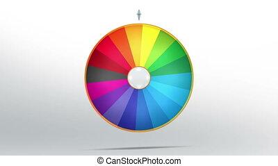 lucky wheel fortune eighteen 4K - Lucky spin represent the...