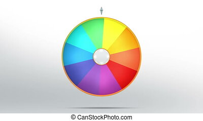 lucky wheel fortune ten 4K - Lucky spin represent the wheel...