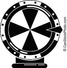 Lucky wheel icon, simple style