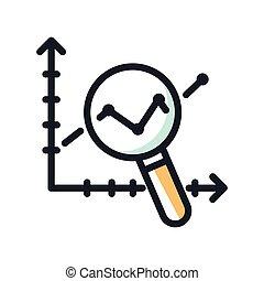 lucro, analytics, desenho, ilustração, ícone