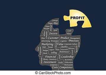 lucro, conceito, negócio, vetorial