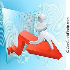 lucro, confiança, conceito, aumento