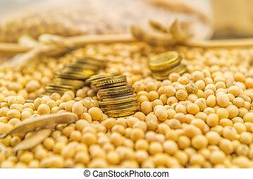 lucro, de, soja, cultivo