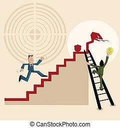 lucro, fazer, trabalho equipe