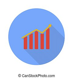 lucro, gráfico, fundo branco