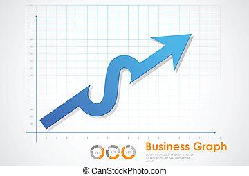 lucro, gráfico, negócio