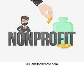 lucro, homem negócios, non