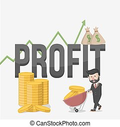 lucro, ilustração negócio