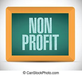 lucro, non, desenho, ilustração, sinal