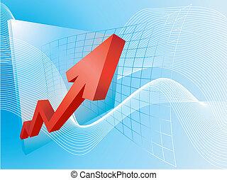 lucros, ilustração, conceito, negócio