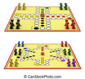 """Ludo game - German version for 4 and 6 player (""""Mensch ..."""