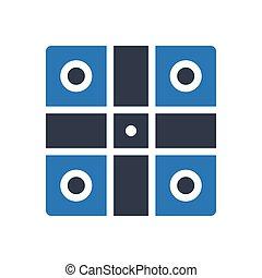 ludo glyph color icon