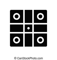ludo glyph flat icon