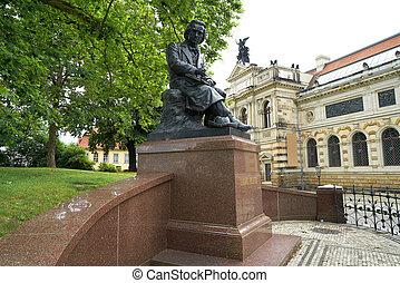 Ludwig Richter memorial denkmal Dresden Germany - Ludwig...