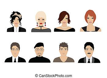 ludzie, avatars