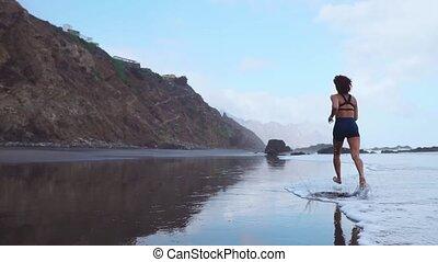 ludzie, bez, jogging, aparat fotograficzny, stabilizer.,...