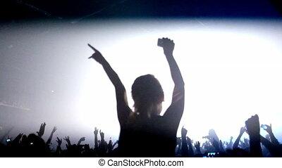 ludzie, concert., oklaski, los