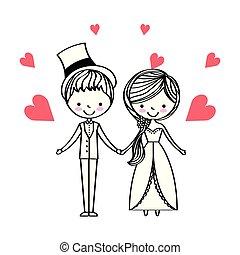 ludzie, dzień, ślub