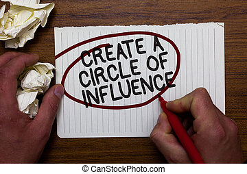 ludzie, fotografia, znak, papier, balon, tworzyć, motywować, pióro, inny, czarnoskóry, influencer, konceptualny, biały, lider, czerwony, czuć się, pokaz, ręka, słówko, okrążony, utrzymywać, koło, paper., influence., tekst