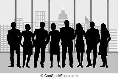 ludzie., grupa, handlowy