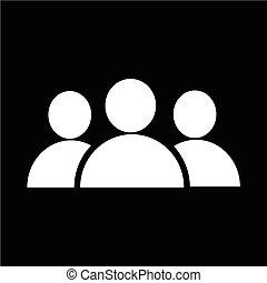 ludzie, grupa, ikona