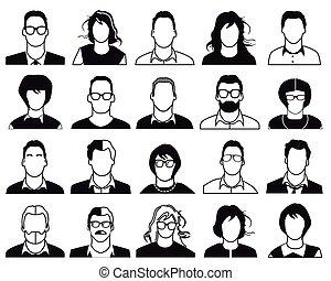 ludzie, ikony