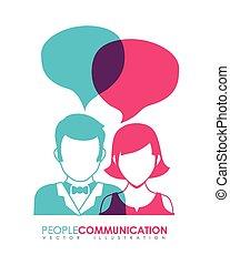 ludzie, komunikacja