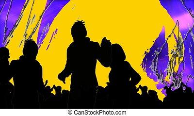 ludzie, młody, taniec
