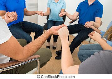 ludzie, modlący się, razem