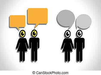 ludzie, mowa, bańki