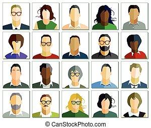 ludzie, portret