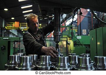 ludzie, pracownicy, fabryka, przemysł
