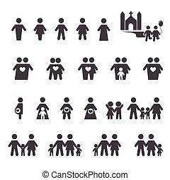 ludzie, rodzina, ikona