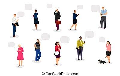 ludzie, smartphones